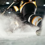 Hockey Player Turning on Ice