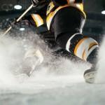 Hockey Player Turning on Ice